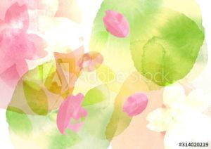 桜 春の背景イラスト