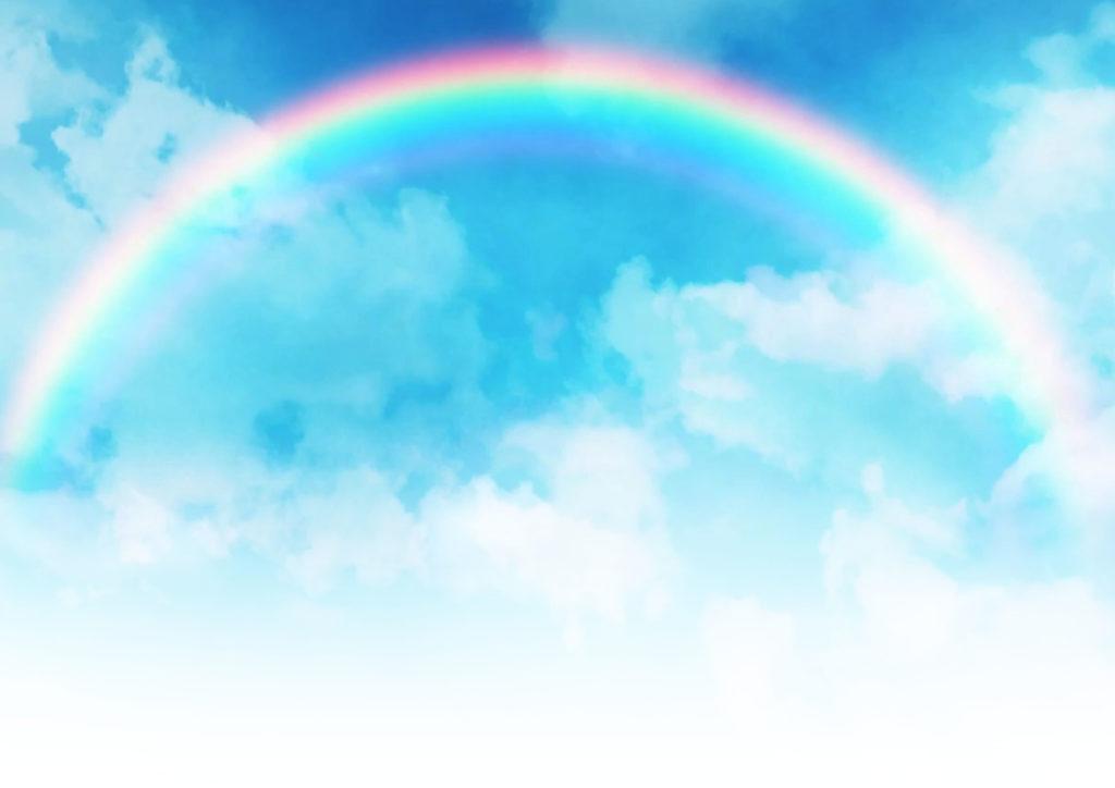 虹が架かった空